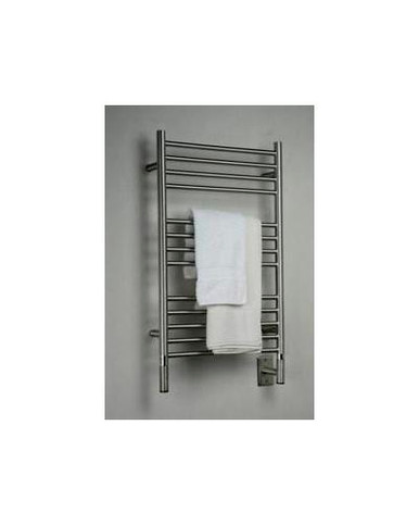 "Amba Jeeves CSB-20 Model C 20-1/2"" W x 36"" H Straight Electric Heated Towel Warmer - Brushed Stainless"