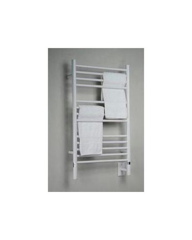 "Amba Jeeves CSW-20 Model C 20-1/2"" W x 36"" H Straight Electric Heated Towel Warmer - White"