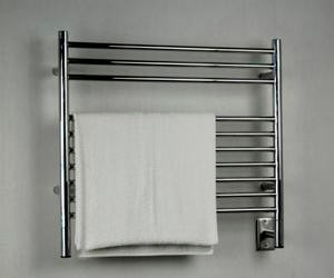 "Amba Jeeves KSP-30 Model K 29-1/2"" W x 27"" H Straight Electric Heated Towel Warmer -Polished Stainless"