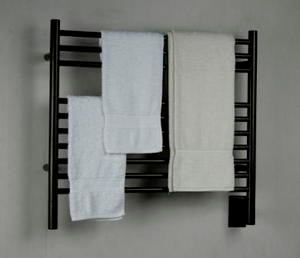 "Amba Jeeves KSO-30 Model K 29-1/2"" W x 27"" H Straight Electric Heated Towel Warmer - Oil Rubbed Bronze"