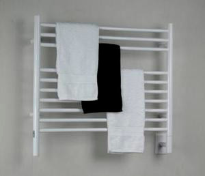 "Amba Jeeves KSW-30 Model K 29-1/2"" W x 27"" H Straight Electric Heated Towel Warmer - White"