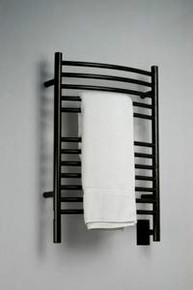 "Amba Jeeves ECO-20 Model E 20-1/2"" W x 31"" H  Curved Electric Heated Towel Warmer - Oil Rubbed Bronze"