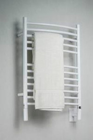 "Amba Jeeves ECW-20 Model E 20-1/2"" W x 31"" H  Curved Electric Heated Towel Warmer - White"