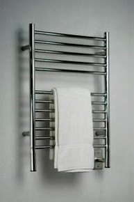 "Amba Jeeves ESP-20 Model E 20-1/2"" W x 31"" H  Straight Electric Heated Towel Warmer -Polished Stainless"