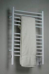 "Amba Jeeves ESW-20 Model E 20-1/2"" W x 31"" H  Straight Electric Heated Towel Warmer - White"