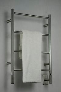 "Amba Jeeves ISB-20 Model I 20-1/2"" W x 31"" H  Straight Electric Heated Towel Warmer - Brushed Stainless"