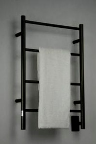 "Amba Jeeves ISO-20 Model I 20-1/2"" W x 31"" H  Straight Electric Heated Towel Warmer - Oil Rubbed Bronze"