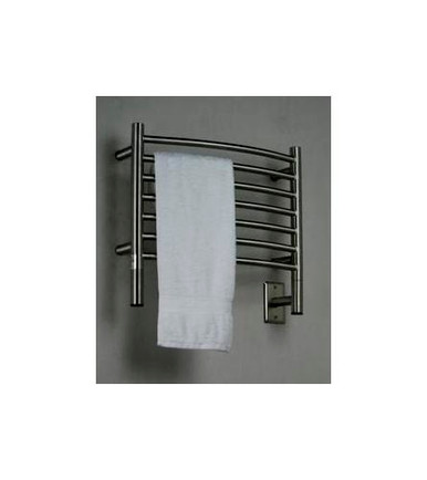 "Amba Jeeves HCB-20 Model H 20-1/2"" W x 18"" H Curved Electric Heated Towel Warmer - Brushed Stainless"