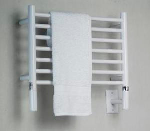 "Amba Jeeves HSW-20 Model H 20-1/2"" W x 18"" H Straight Electric Heated Towel Warmer - White"
