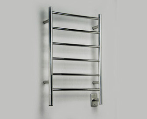 "Amba Jeeves JSP-20 Model J 20-1/2"" W x 31"" H Straight Electric Heated Towel Warmer -Polished Stainless"