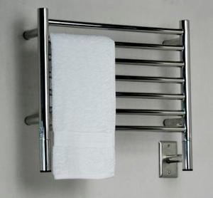 "Amba Jeeves HSP-20 Model H 20-1/2"" W x 18"" H Straight Electric Heated Towel Warmer -Polished Stainless"