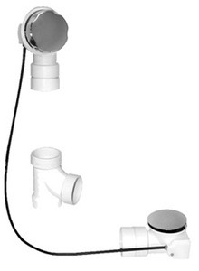 Mountain Plumbing BWO40S22A2 BRN Cable Operated Bath Waste & Overflow Kit - Brushed Nickel