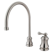 Kingston Brass Single Handle Widespread Kitchen Faucet - Satin Nickel KS3818BLLS