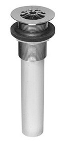 Mountain Plumbing MT749 PN Tear Drop Grid Lav Drain W/O Overflow - Polished Nickel