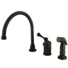 Kingston Brass Single Handle Kitchen Faucet & Side Spray - Oil Rubbed Bronze KB3815BLSP