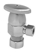 Mountain Plumbing MT6003-NL/PCP Oval Handle Angle Valve -  Polished Copper