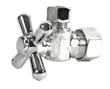 Mountain Plumbing MT621-NL/CPB Mini Cross Handle Angle Valve - Lead Free - Polished Chrome