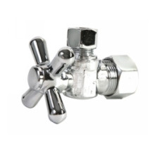 Mountain Plumbing MT621-NL/PVD BB Mini Cross Handle Angle Valve - Lead Free - PVD Brushed Bronze