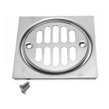 Mountain Plumbing MT231 CPB Grid Shower Drain & Square Tile - Polished Chrome
