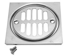 Mountain Plumbing MT231 PEW Grid Shower Drain & Square Tile - Pewter