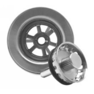 Mountain Plumbing MT700 BRN Bar Sink Basket Strainer - Brushed Nickel