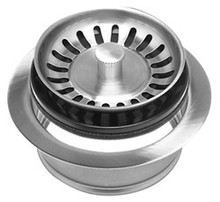 Mountain Plumbing MT200EV BRS Waste Disposer Flange + Stopper Strainer - Brushed Stainless