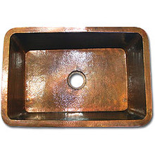 "Linkasink C010 WC 30"" x 20"" x 10"" Kitchen Undermount Copper sink - Weathered Copper"