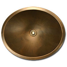 "Linkasink BR005 P 18.5"" x 15"" x 7"" Bronze Oval Undermount or Drop In Lav Sink - Polished Nickel"