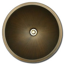 "Linkasink BR003 AB 17"" Bronze Large Undermount or Drop In Lav Sink - Antique Bronze"