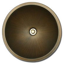 "Linkasink BR001 AB 13 3/4"" Bronze Small Undermount or Drop In Lav Sink - Antique Bronze"