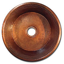 "LinkaSink C019 WC 3 1/2"" Drain Large Flat Bottom 19"" X  8"" Lav Copper Sink - Weathered Copper"