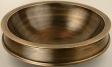 "Linkasink B013 AB 17"" Bronze Semi Recessed Bowl Vessel Sink - Antique Bronze"