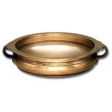 "Linkasink B001 AB 19"" x 16"" Bronze Bowl Vessel Sink with Handles - Antique Bronze"