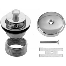 Westbrass D941K 26 1 Hole Twist & Close Bath Waste & Drain Trim Kit - Chrome