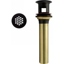 Westbrass D411-12 12 Lavatory Grid Strainer Drain W/O Overflow -Oil Rubbed Bronze