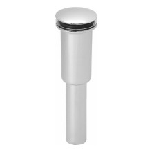 Westbrass D410E 07 Umbrella Push Down Lavatory Drain - Fits Extra Thin Sinks - Satin Nickel