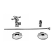 Westbrass D1812T 07 Toilet Angle Supply Kit - Satin Nickel
