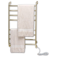 Warmrails Kensington HSKS Wall Mounted Towel Warmer & Drying Rack - Hard or Soft Wired - Satin Nickel