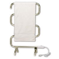Warmrails Heatra Classic HCS Heated Floor or Wall Mounted Towel Warmer - Nickel