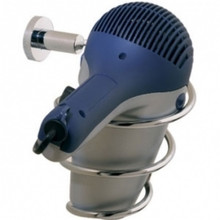 Valsan Porto 67593ES Hair Dryer Holder - Wall Mounted - Satin Nickel