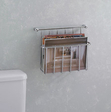 Valsan Essentials 57101NI Magazine Holder-Wall Mounted-Polished Nickel