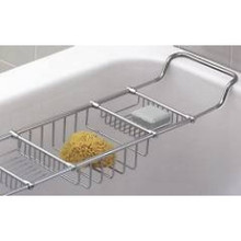Valsan Essentials 53405ES Adjustable Bathtub Caddy - Rack - Satin Nickel