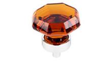 "Top Knobs Additions TK138PC 1 1/8"" Wine Octogan Crystal Cabinet Door Knob - Polished Chrome Base"