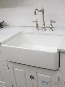 "Fine Fixtures FC3018SU Sutton Butler Fireclay Kitchen Sink - White - 29 1/2"" x 18 3/4"""