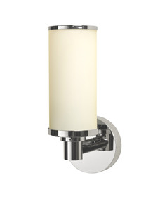 Valsan 30964ES Porto Bathroom Single Wall Light - Satin Nickel