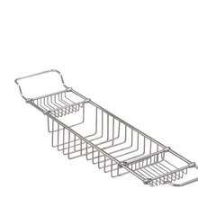Valsan 53412UB Essentials Large Adjustable Bathtub Caddy - Rack - Unlacquered Brass