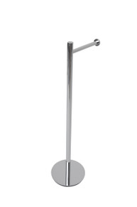 Valsan 53506CR Essentials Contempoary Free Standing Toilet Tissue Paper Holder - Chrome