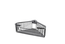 "Valsan 53546CR Essentials Large Deep Detachable Corner Basket w Square Rungs 9 3/4"" x 9 3/4"" x 3 1/4"" - Chrome"