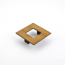 Schaub 443-BRBZ Finestrino Door Pull Square 64 mm cc - Burnished Bronze