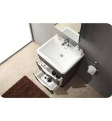 "Fresca FVN8525CN Milano Bathroom Vanity with Sink & Faucet & Medicine Cabinet 25.5"" W - Chestnut"